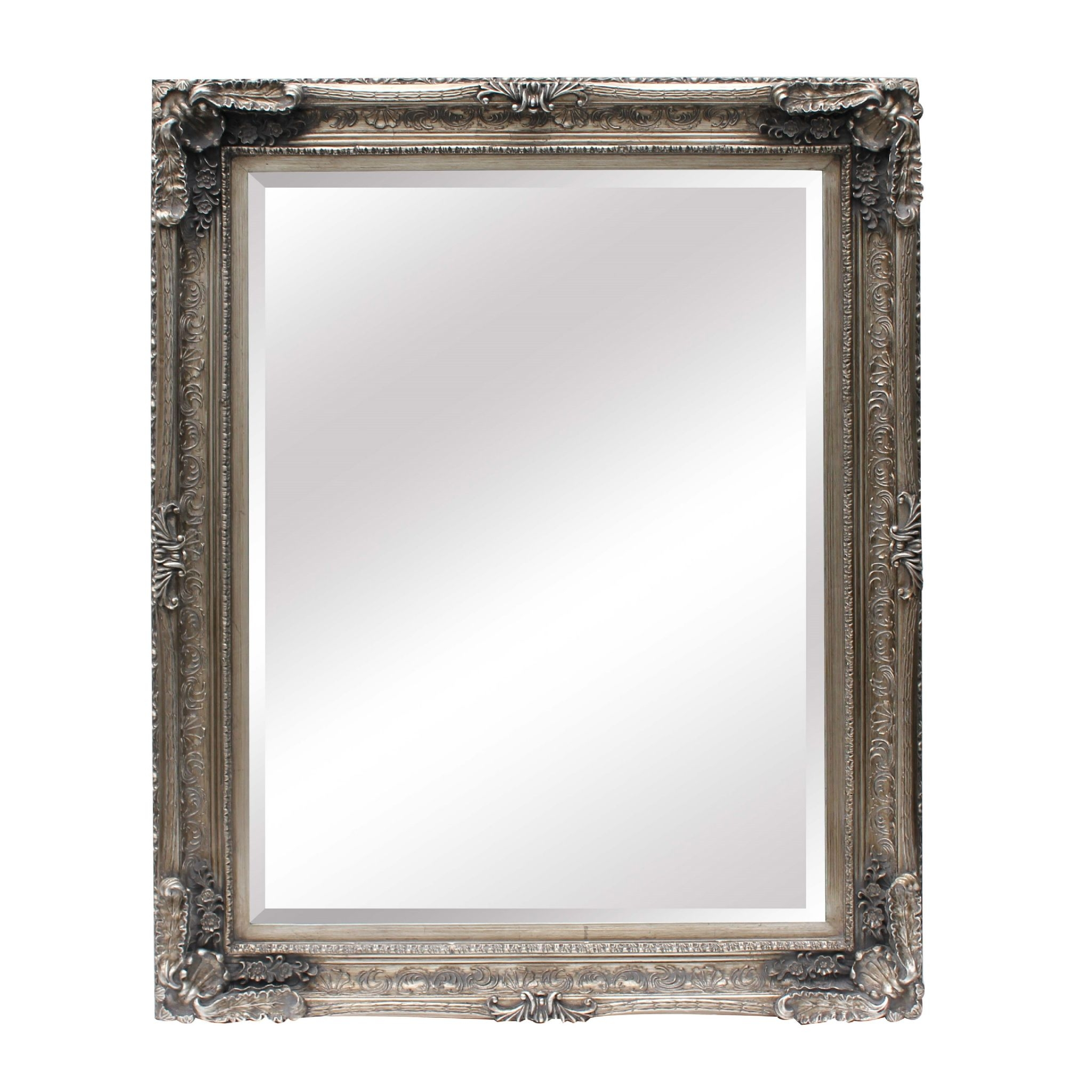 Ornate Mirror Large Silver With Regard To Ornate Mirror Large (Image 11 of 15)