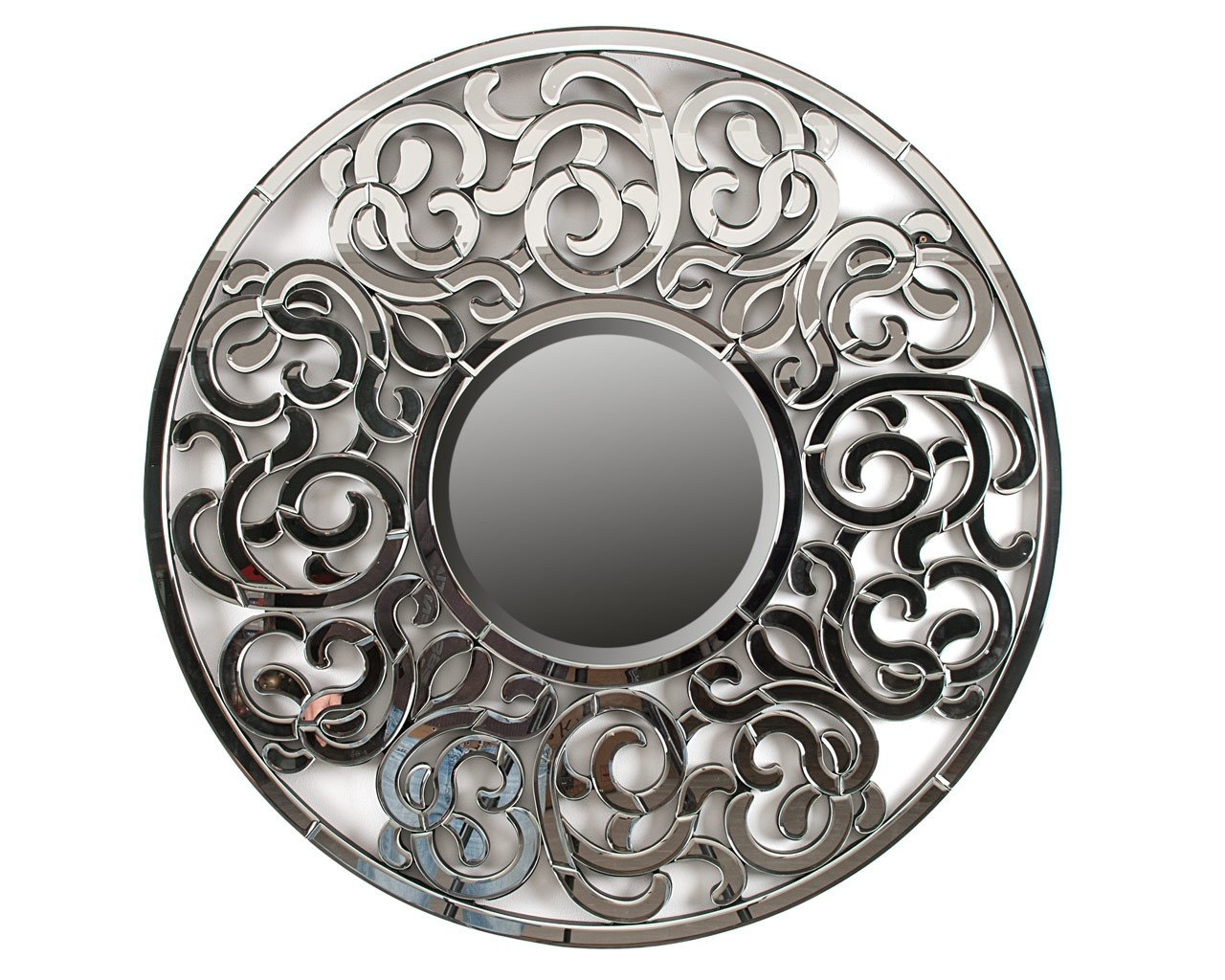 Ornate Round Mirror Designer Wall Art Puji Accessories Intended For Ornate Round Mirror (Image 5 of 15)