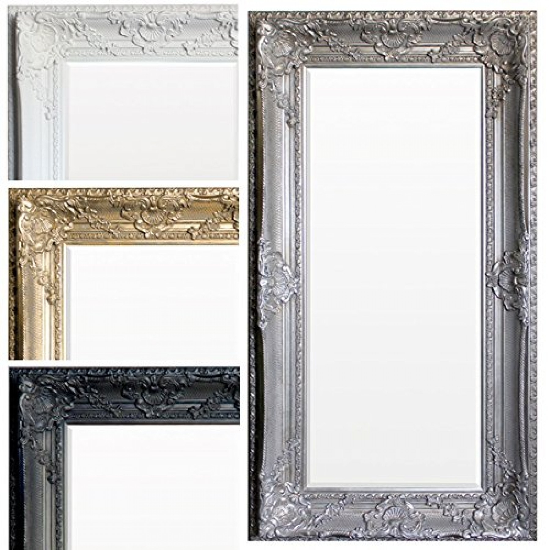 Ornate Shab Chic Mirror Extra Large In Gold Shabby Chic Mirror (Image 11 of 15)