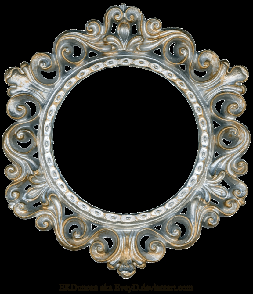 Ornate Silver And Gold Round Frame Eveyd On Deviantart For Ornate Round Mirror (View 10 of 15)