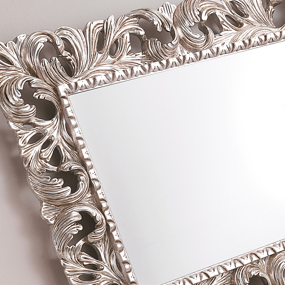 Ornate Silver Leaf Rococo Wall Mirror Juliettes Interiors For Rococo Wall Mirror (Image 10 of 15)