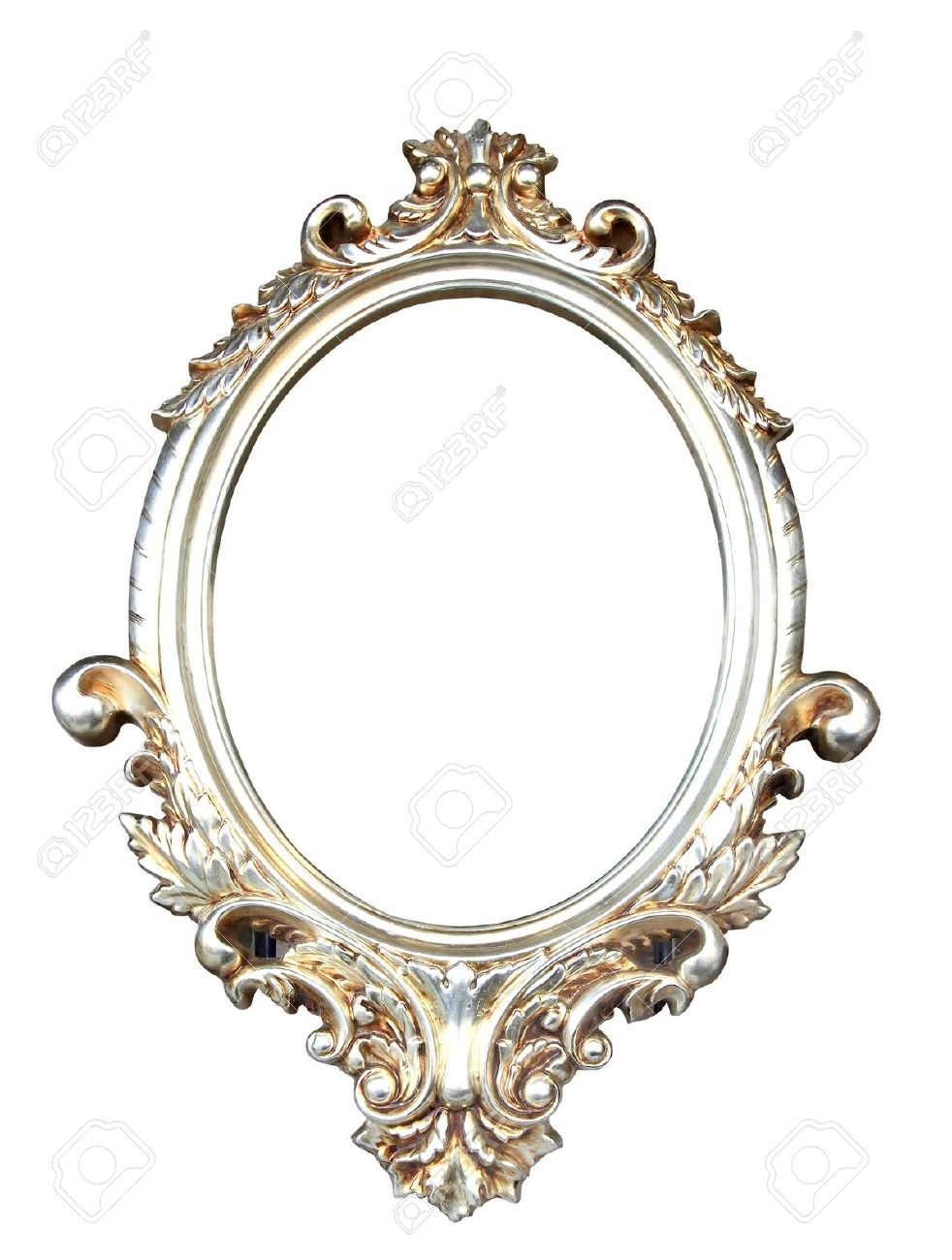Ornate Vintage Frame With Clipping Path Stock Photo Picture And Inside Ornate Antique Mirrors (Image 10 of 14)