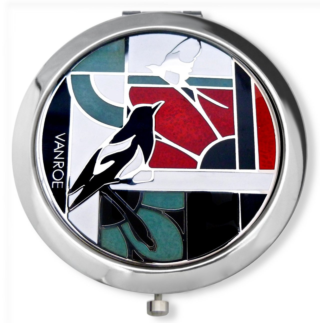 Our Birmingham Enamel Magpie Compact Mirrors Arrive Next Week Regarding Mirrors In Birmingham (View 11 of 15)