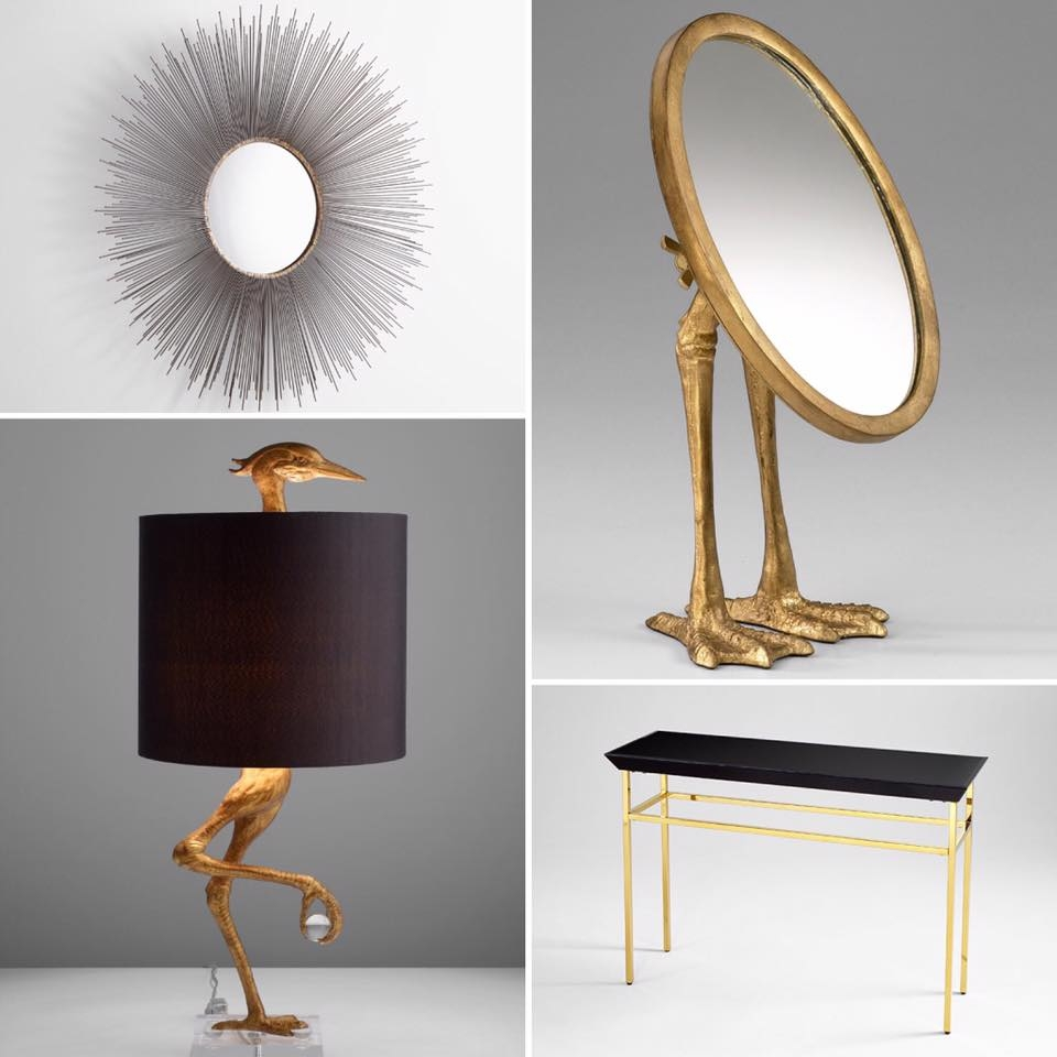 Our Cyan Spotlight Items For This Week Include Large Aludra In Gold Table Mirror (Image 12 of 15)