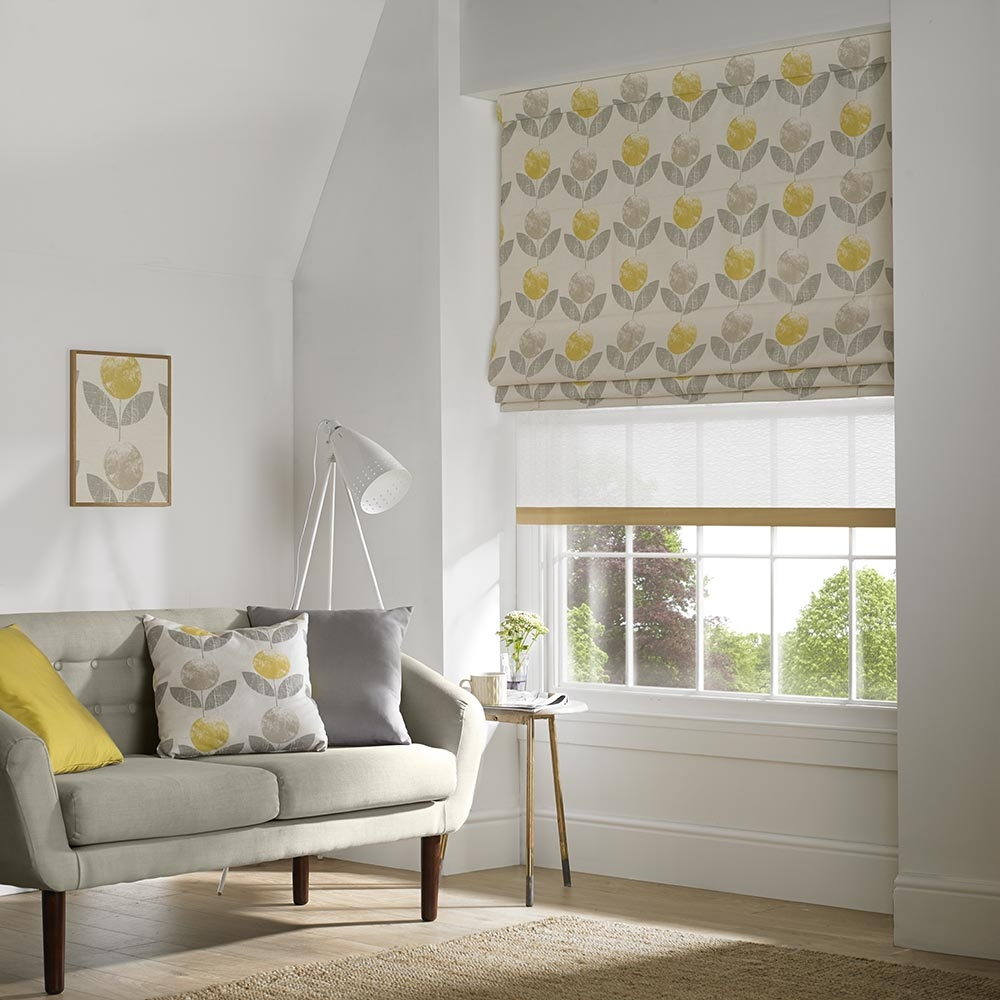 Our Made To Measure Roman Blinds Offer That Modern Alternative To Inside Roman Blinds With Blackout Lining (Image 9 of 15)
