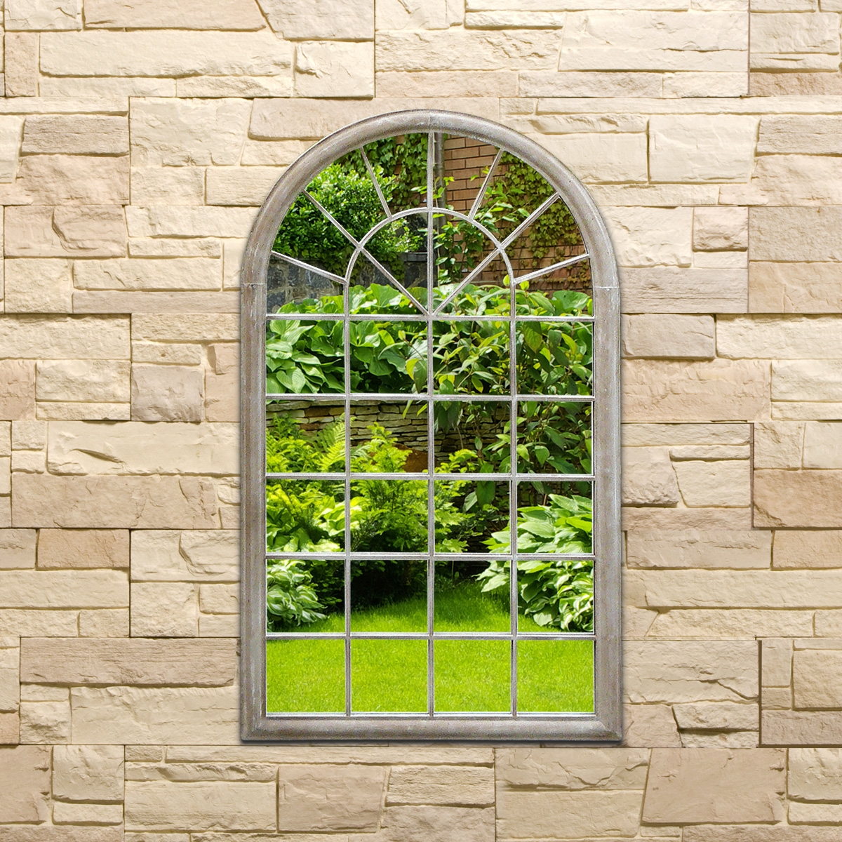 Outdoor Garden Wall Mirrors With Garden Wall Mirrors (Image 13 of 15)