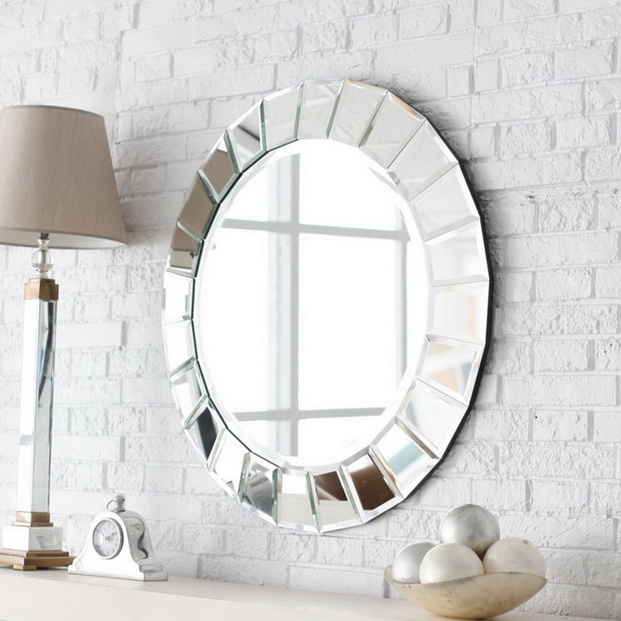 Oval Bathroom Mirror Ideas Wall Mounted Rectangular Clear Glass Regarding Free Standing Oval Mirror (Image 12 of 15)