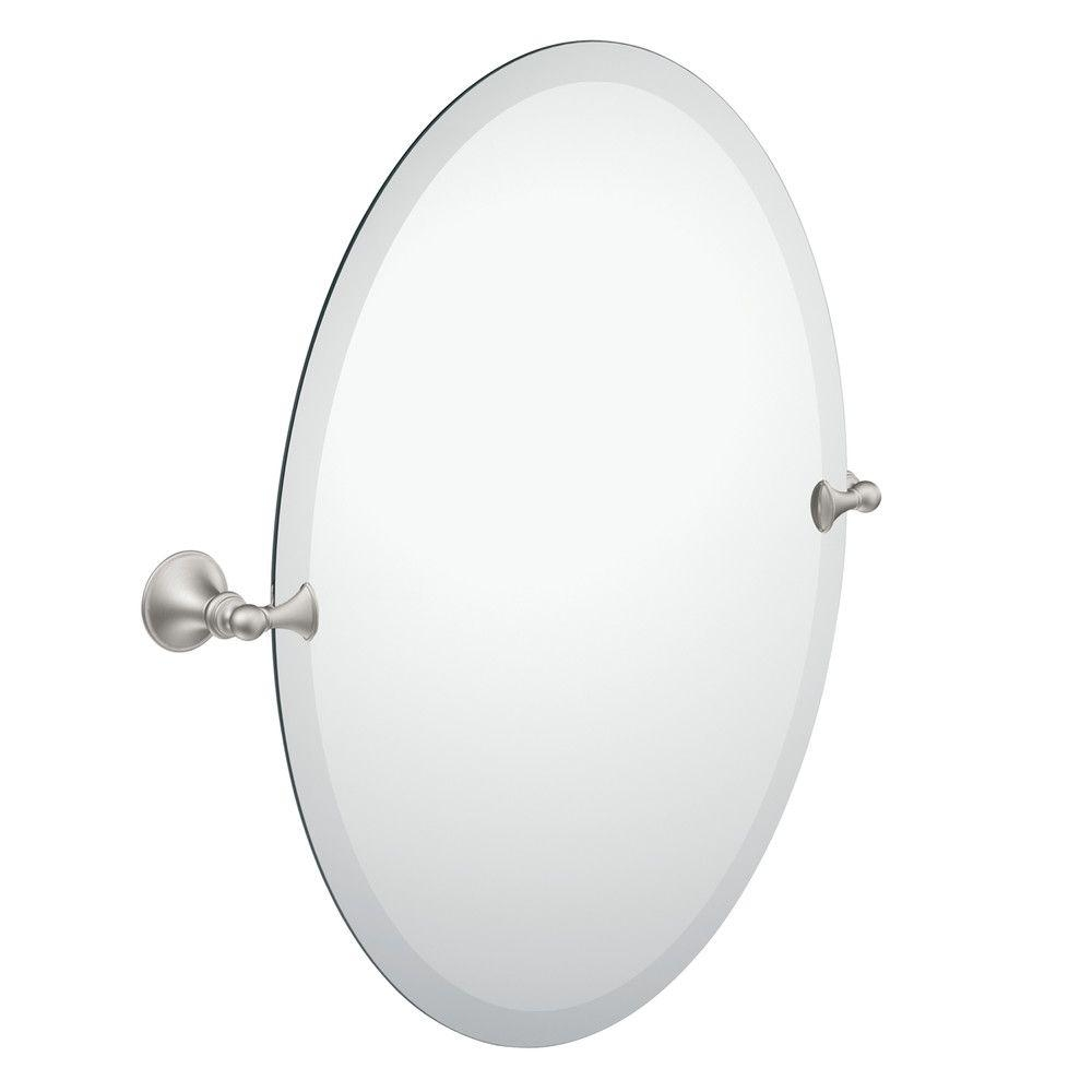 Oval Bathroom Mirrors Bath The Home Depot With Regard To White Oval Bathroom Mirror (Image 7 of 15)