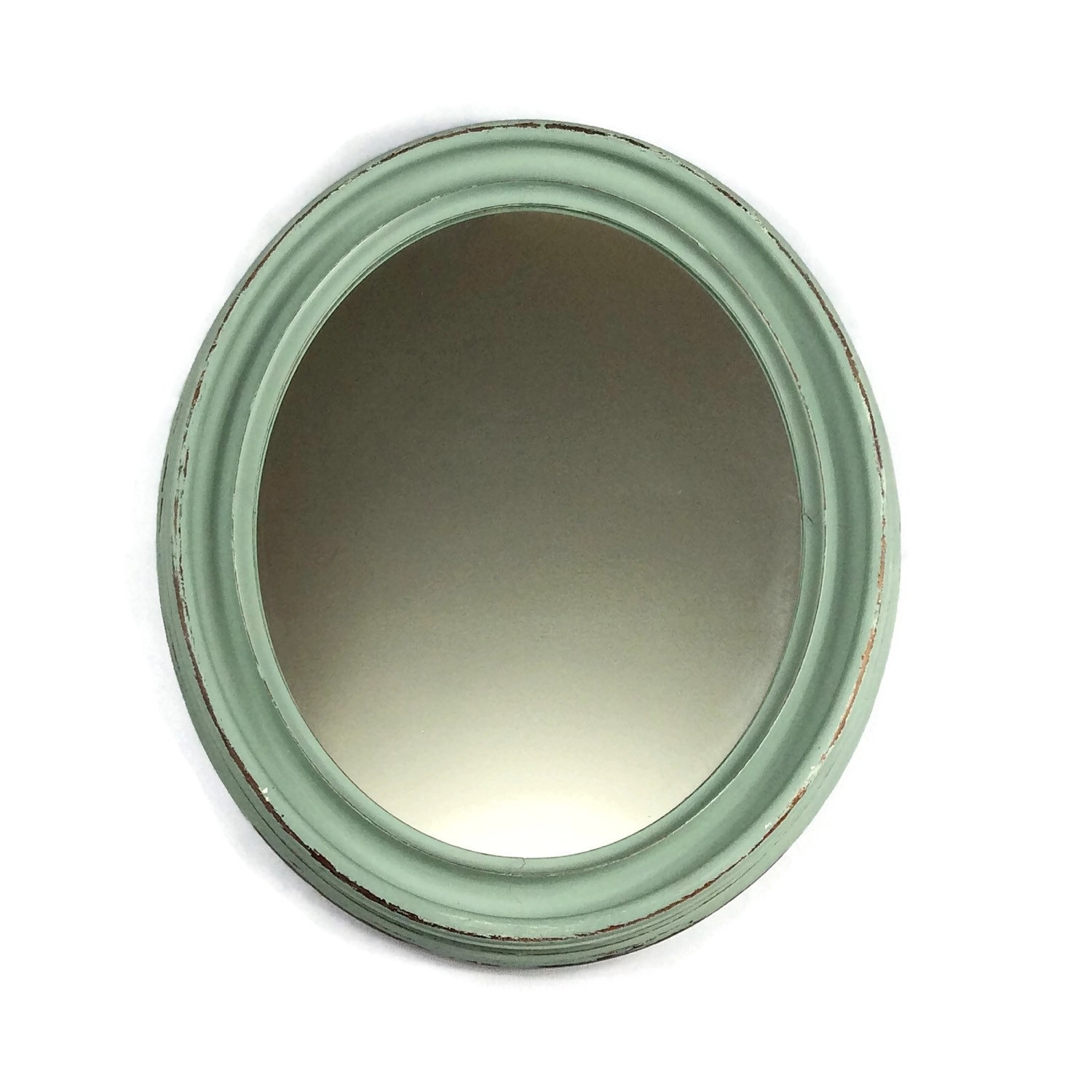 Oval Blue Mirror Duck Egg Blue Distressed Mirror Wall Regarding Blue Distressed Mirror (Image 11 of 15)
