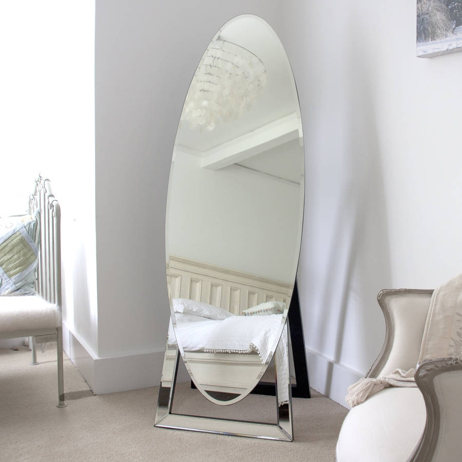 Oval Cheval Mirror Decorative Mirrors Online With Regard To Oval Freestanding Mirror (Image 11 of 15)