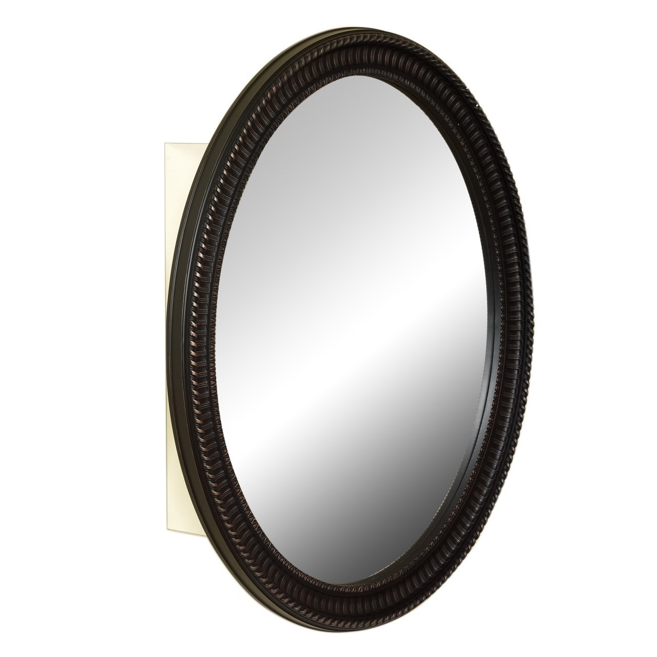 Oval Mirror Medicine Cabinet Zenith Home Corp Zpc With Black Oval Mirror (Image 11 of 15)