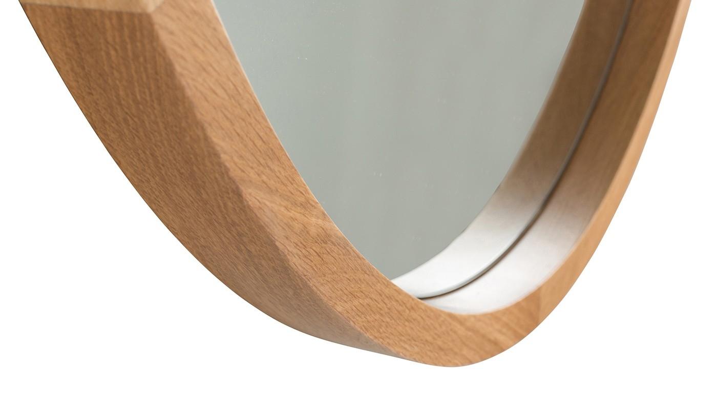Oval Solid Oak Mirror For Oak Mirror (View 14 of 15)
