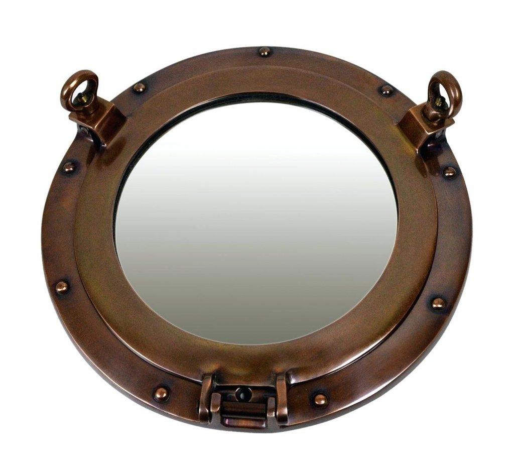 Oval Wall Mirror Porthole Mirrors Small Table Pitchloveco Pertaining To Porthole Style Mirrors (Image 10 of 15)
