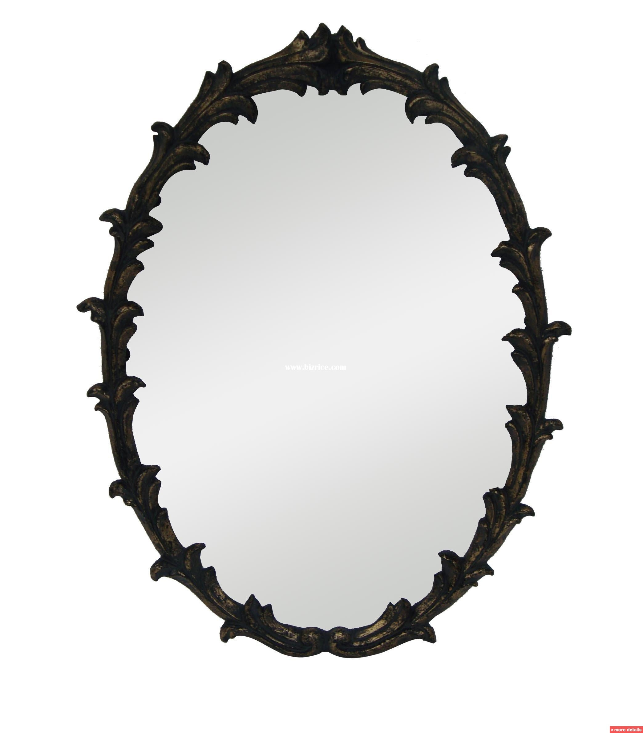 Oval Wall Mirrors Bizrice Regarding Black Oval Wall Mirror (Image 9 of 15)