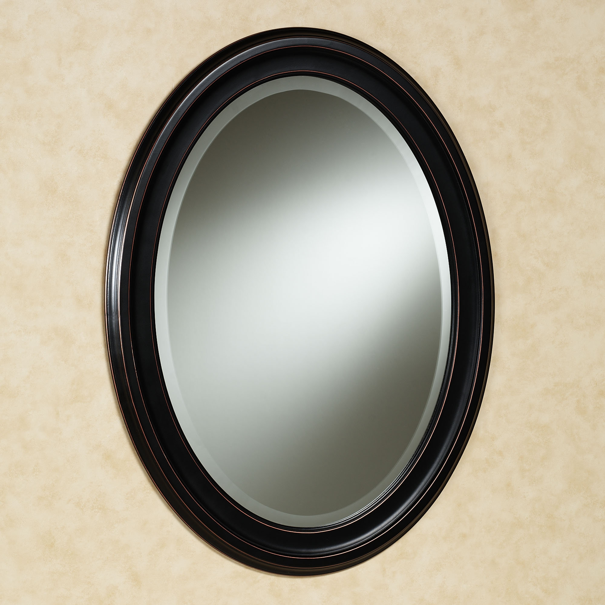 Oval Wall Mirrors Black Oval Wall Clock Black Oval Wall Mirror In Black Oval Wall Mirror (Image 10 of 15)
