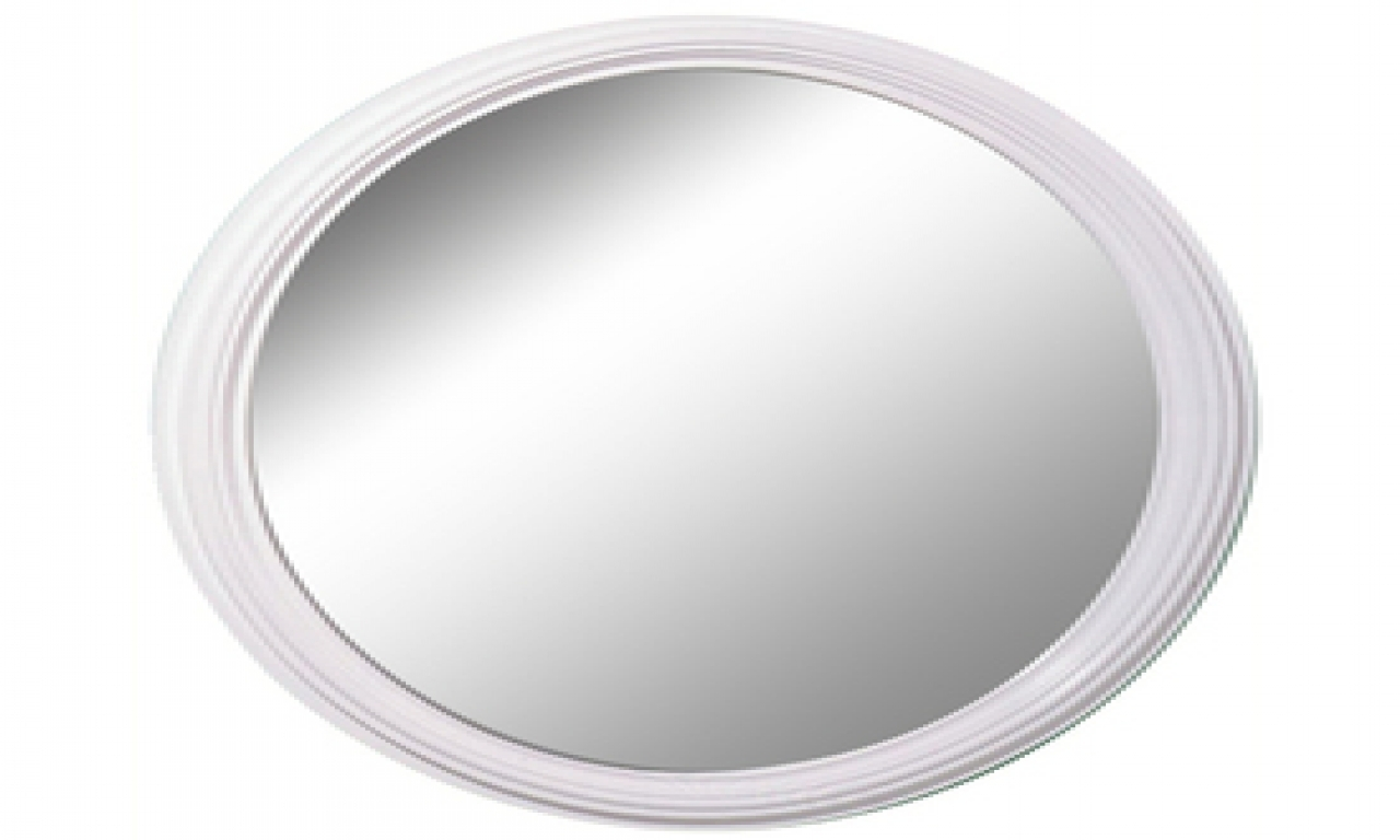 Oval White Mirror Oval Wall Mirrors White Framed Oval Mirror Intended For White Oval Mirrors (Image 9 of 15)