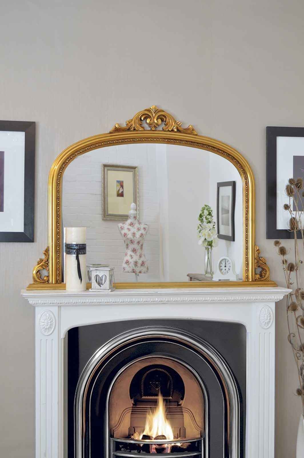 Featured Image of Gold Mantle Mirror