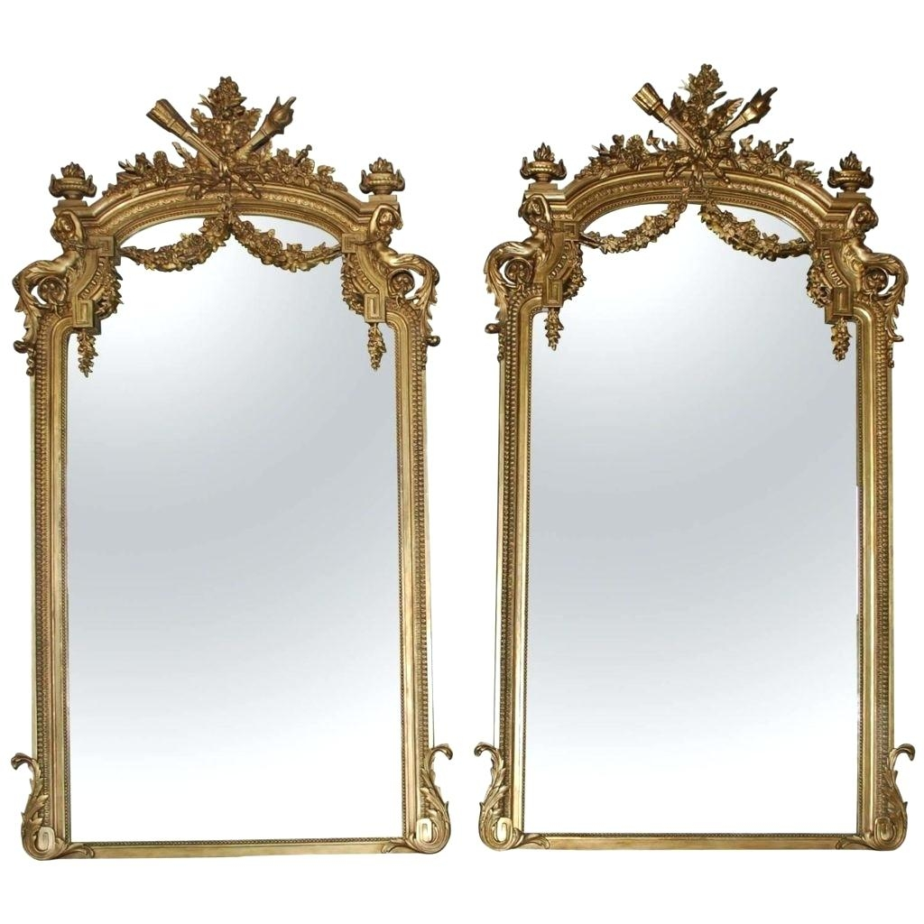 Oversized Gold Mirror Pitchloveco Regarding Large Antique Mirror For Sale (Image 15 of 15)