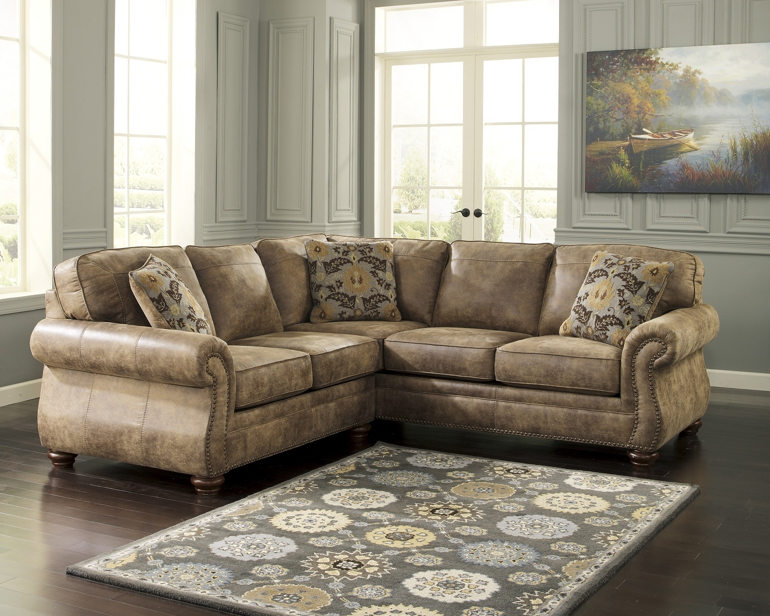 Overstock Sectional Sofas Roselawnlutheran Within Chenille Sectional Sofas (Image 11 of 15)