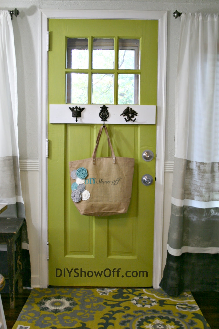 Painted Door Archives Diy Show Off Diy Decorating And Home For Striped Door Curtain (Image 13 of 15)
