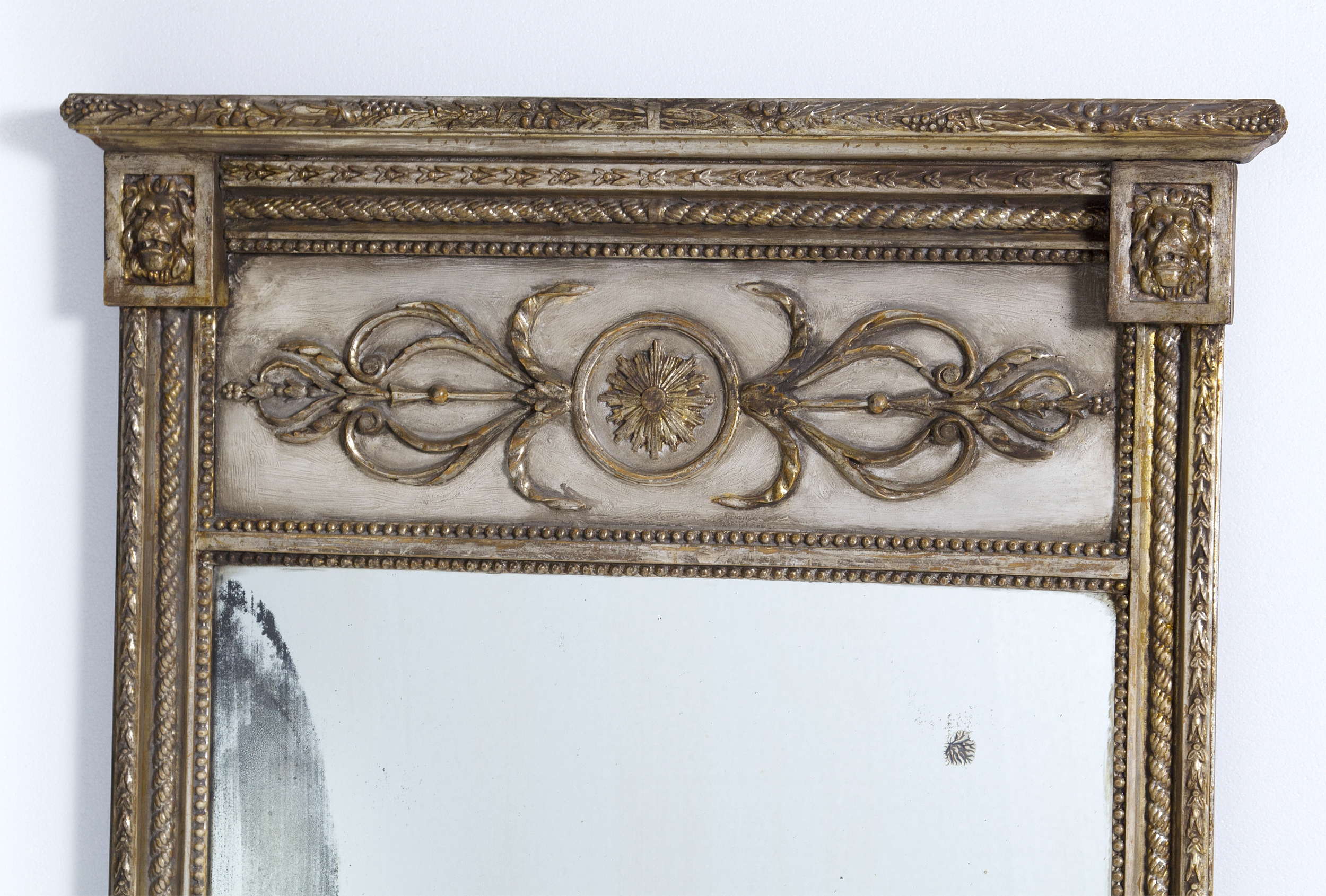 Painted Silver Gilt Mirror 57 X 28 In Silver Gilded Mirror (View 9 of 15)