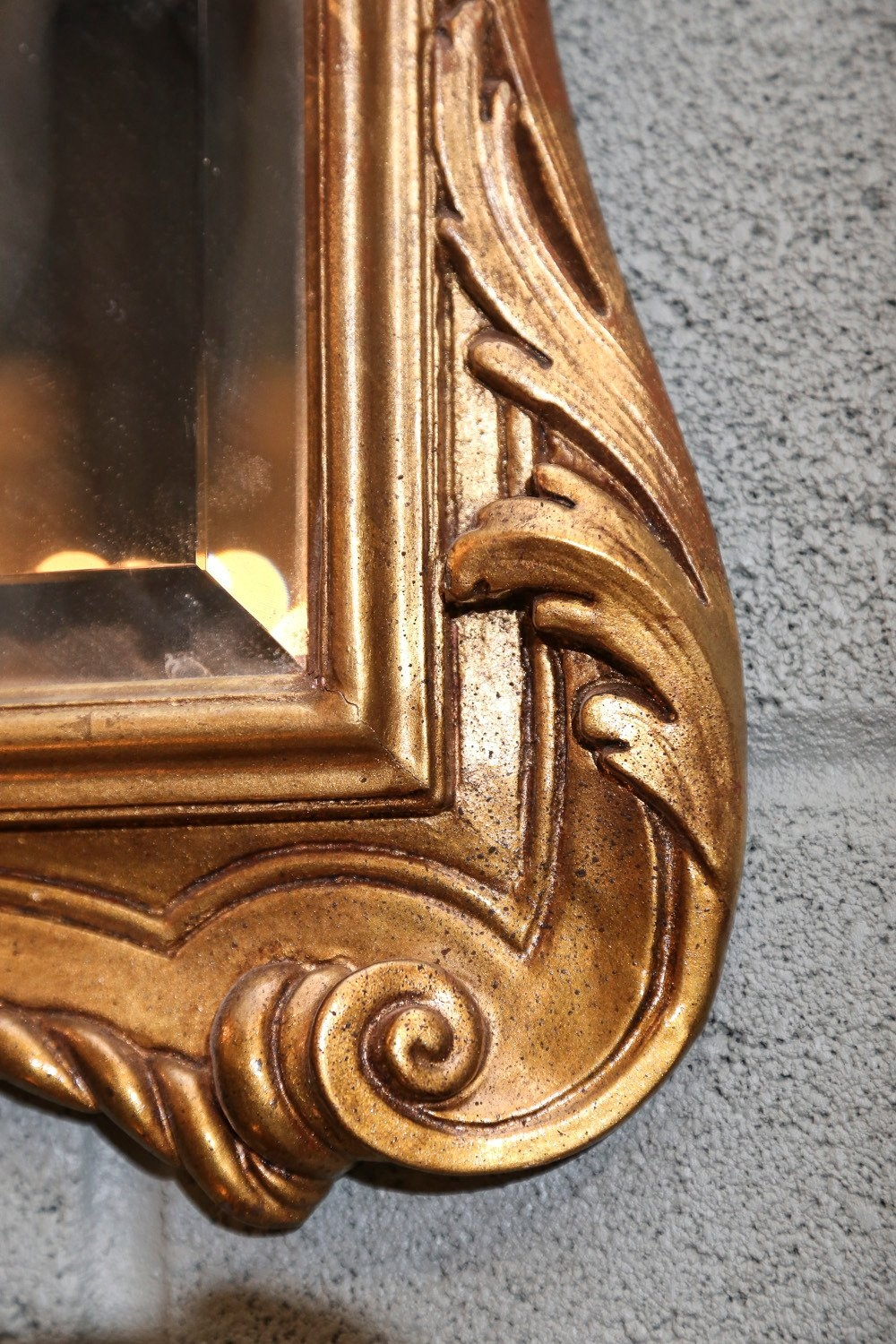 Pair Of Gilt Mirrors With Low Key Carving On The Frame For Sale At In Gilt Mirrors (Image 14 of 15)