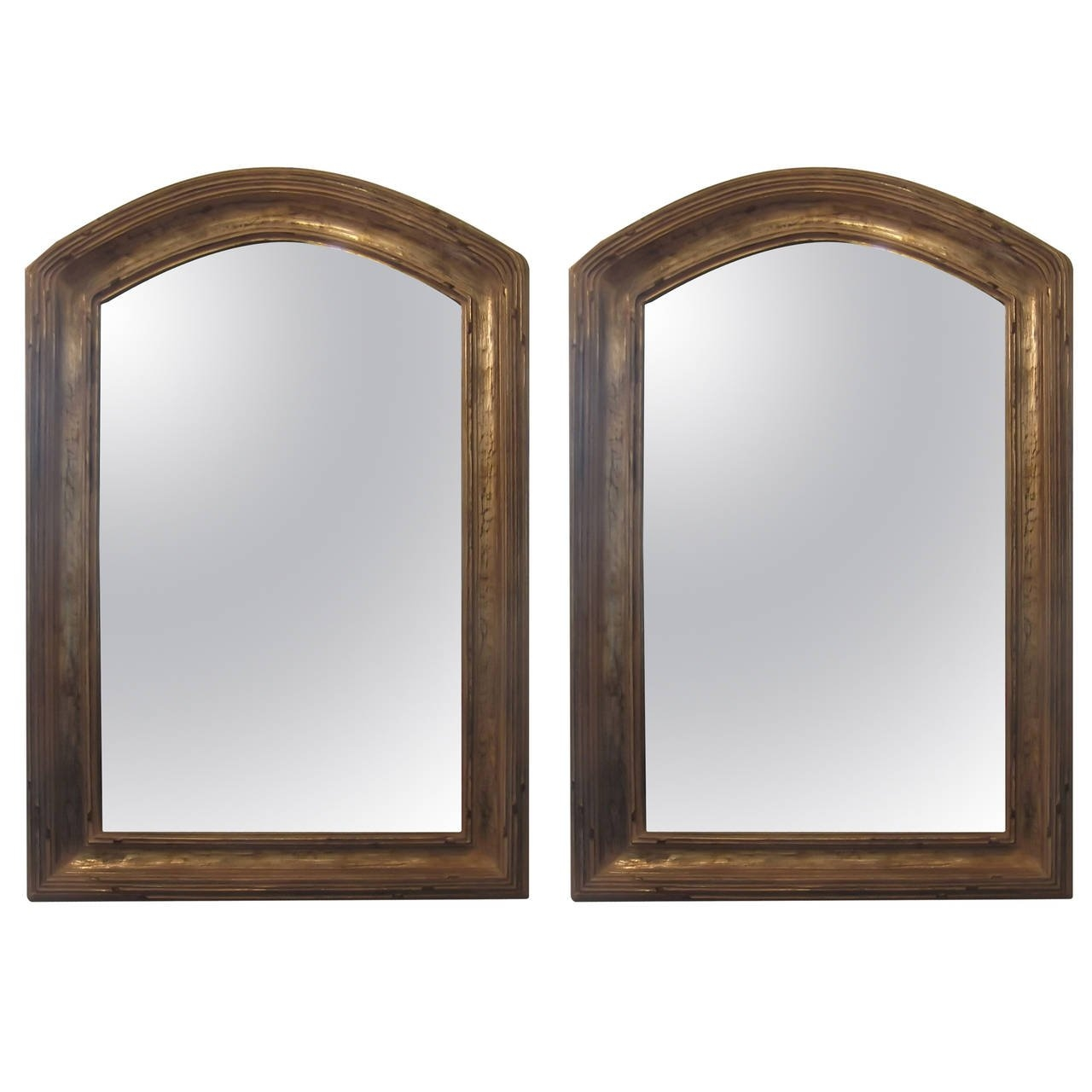Pair Of Giltwood Arched Top Mirrors At 1stdibs Inside Arched Mirrors (Image 13 of 15)