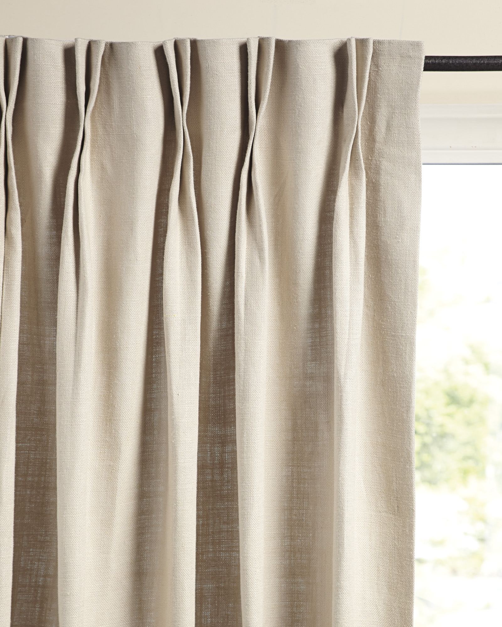 Palmer Linen Window Panel Serena Lily Throughout Natural Linen Drapes (View 5 of 15)