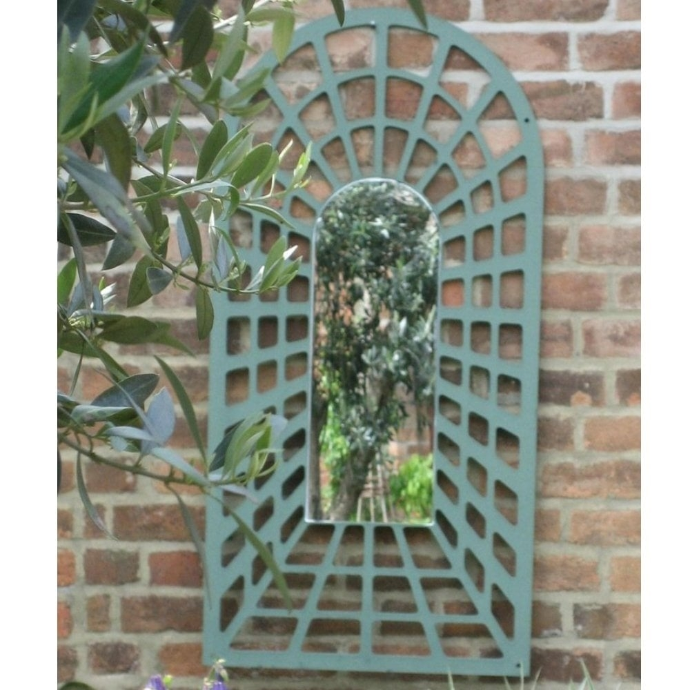Parallax 12m Illusion Perspective Arch Trellis Garden Mirror Intended For Garden Mirror (Image 11 of 15)