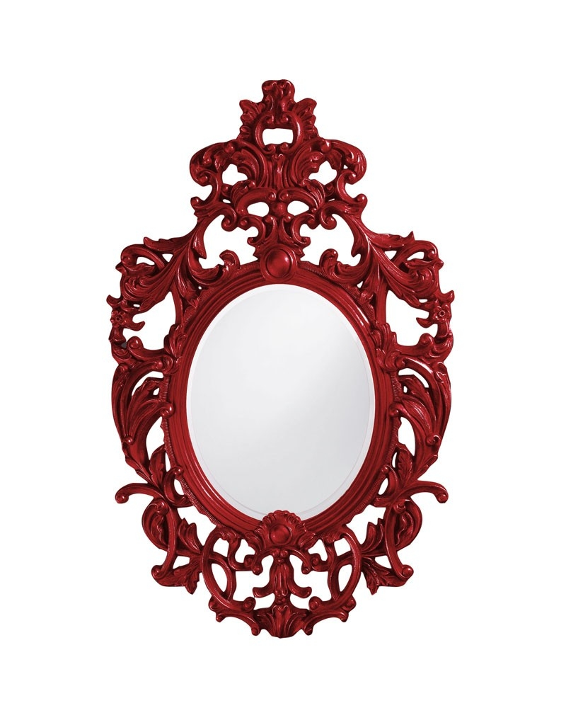 Parisian Mirror Rosenberryrooms Inside Red Mirrors For Sale (Image 14 of 15)