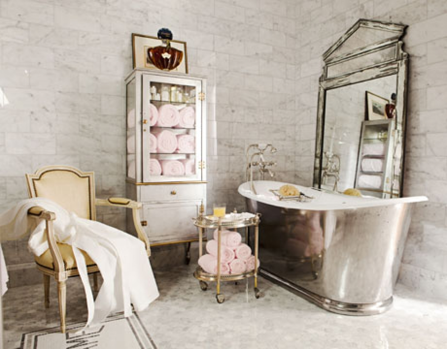 Parisian Style Bathroom Accessories Bathroom With French Inspired Mirrors (Image 15 of 15)