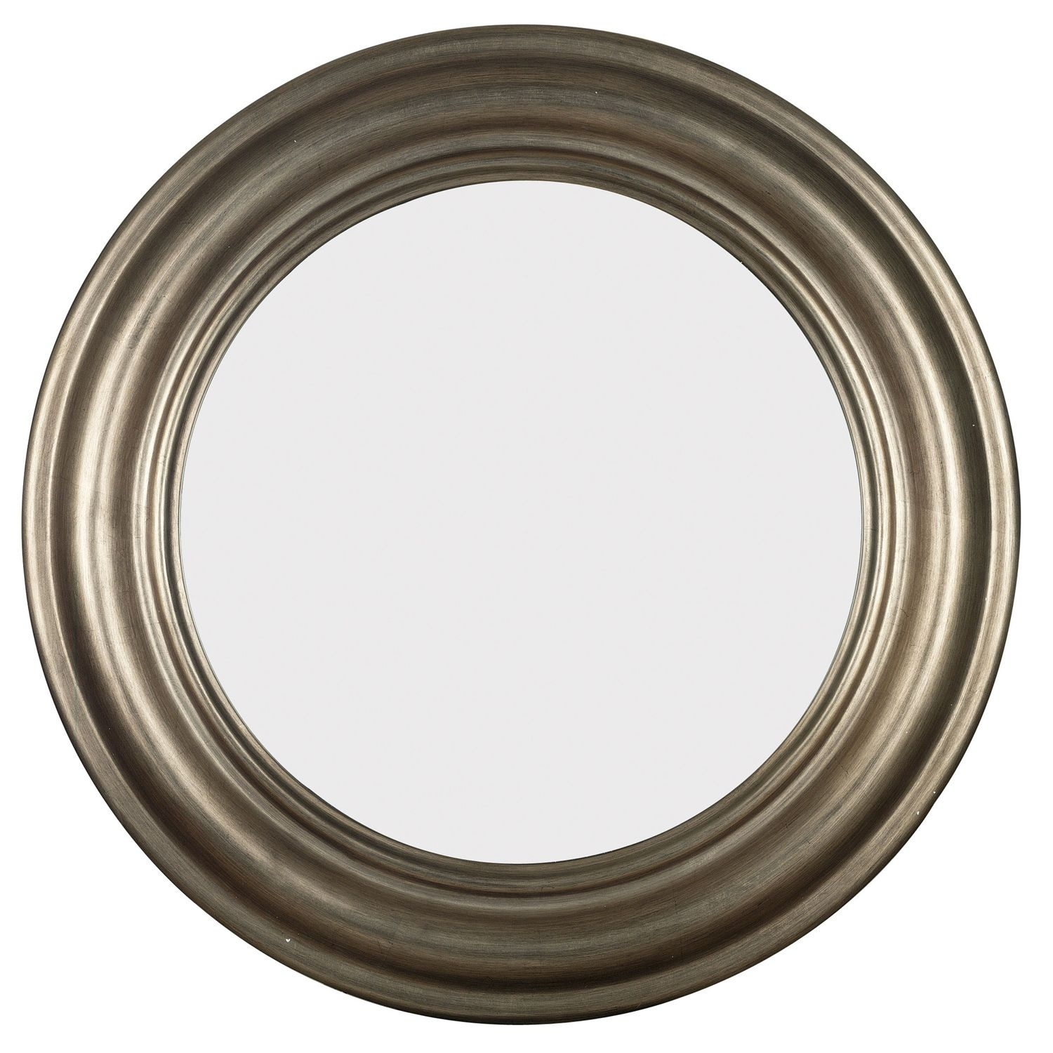 Pasco Round Antique Silver Wall Mirror Design Craft Antique Pertaining To Antique Round Mirrors (View 2 of 15)