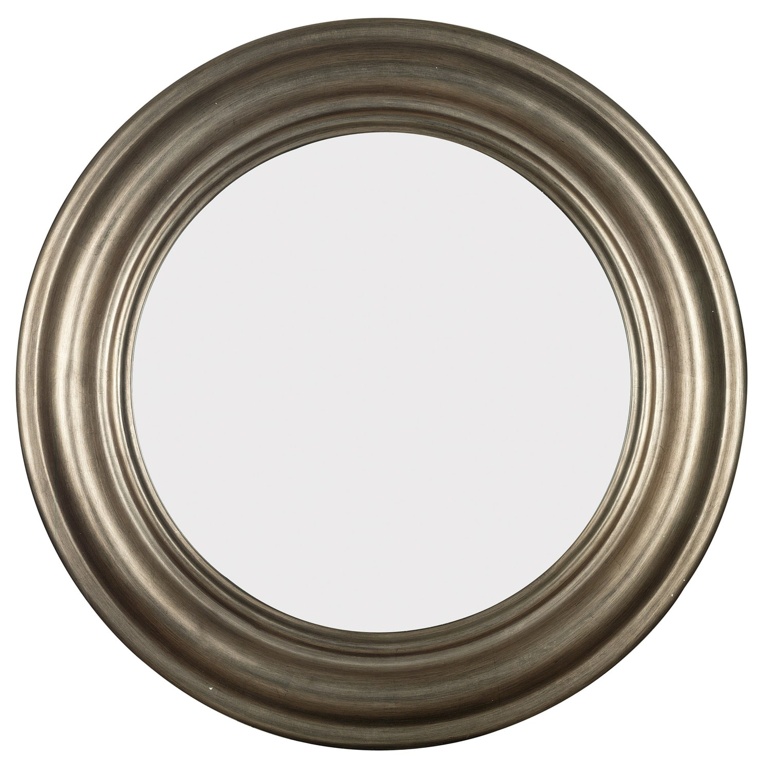 Pasco Round Antique Silver Wall Mirror Free Shipping Today With Regard To Round Silver Mirror (View 3 of 15)