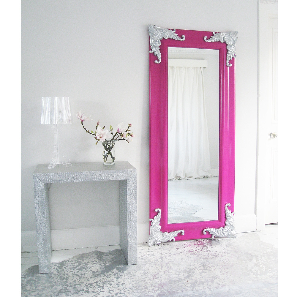 Passion Pink Full Length Mirror The French Bedroom Company Inside French Full Length Mirror (Image 12 of 15)