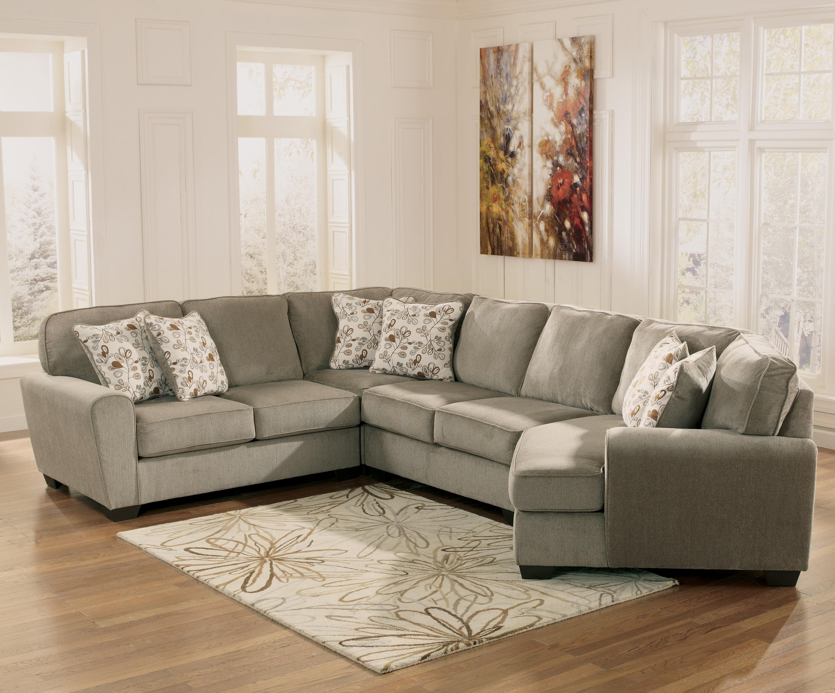 Patina 4 Piece Small Sectional With Right Cuddler Rotmans Sofa With Regard To Cuddler Sectional Sofa (Image 11 of 15)