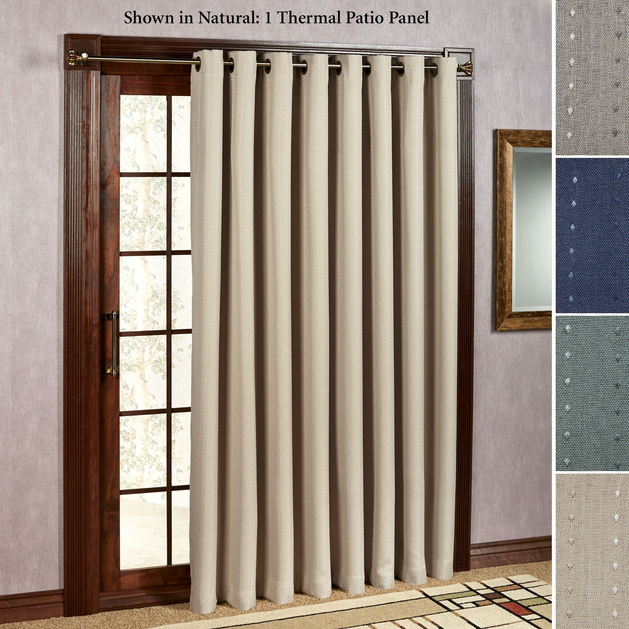 Patio Door Curtain Panels Touch Of Class Inside Thermal Door Curtains (Image 9 of 15)