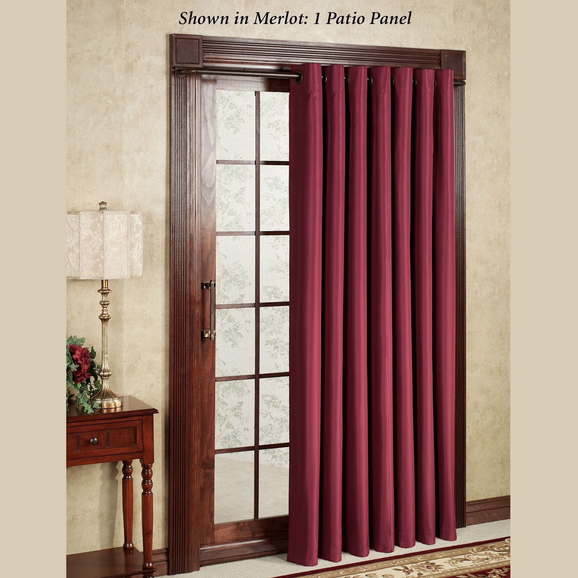 Patio Door Curtain Panels Touch Of Class With Thermal Door Curtain (View 4 of 15)