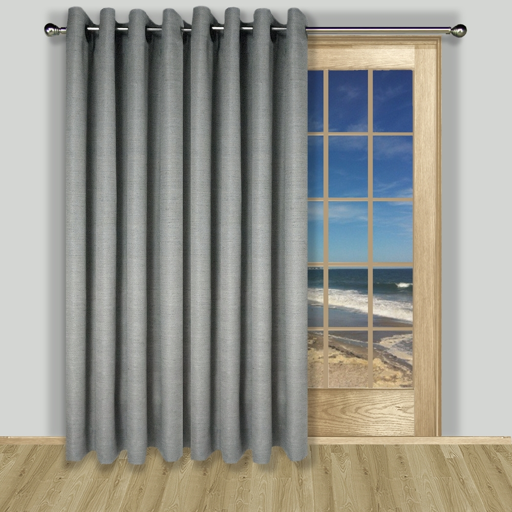 Patio Door Curtains Thecurtainshop Within Single Curtains For Doors (Image 9 of 15)
