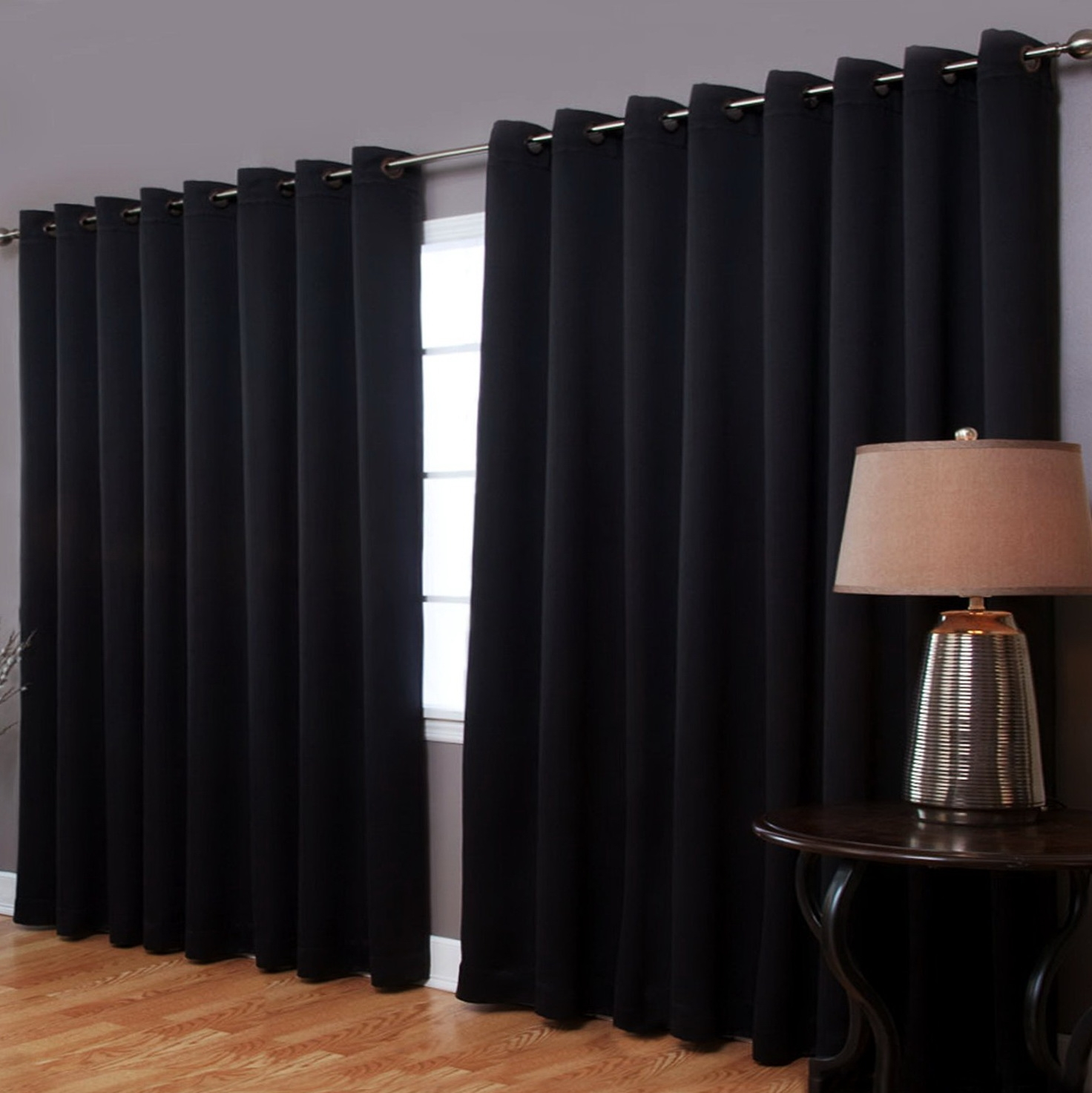 Patio Door Thermal Blackout Curtain Panel Intended For Extra Wide Thermal Curtains (Image 13 of 15)
