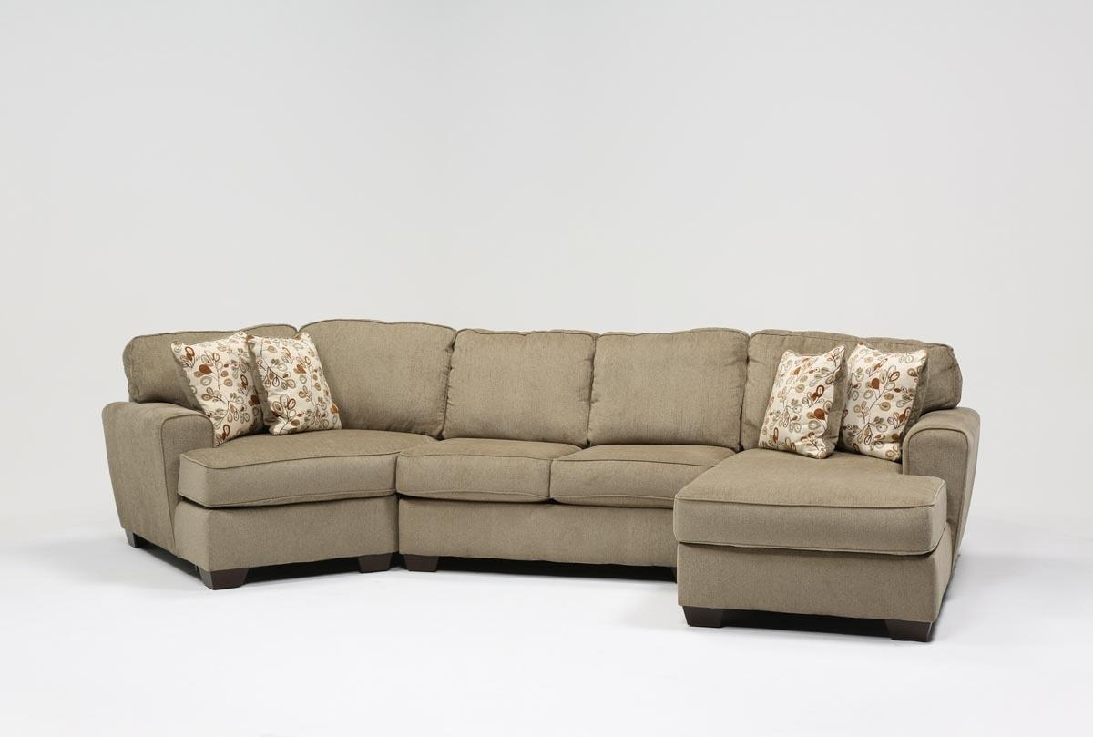 Patola Park 3 Piece Cuddler Sectional Wraf Cornr Chaise Living In Angled Chaise Sofa (Image 12 of 15)