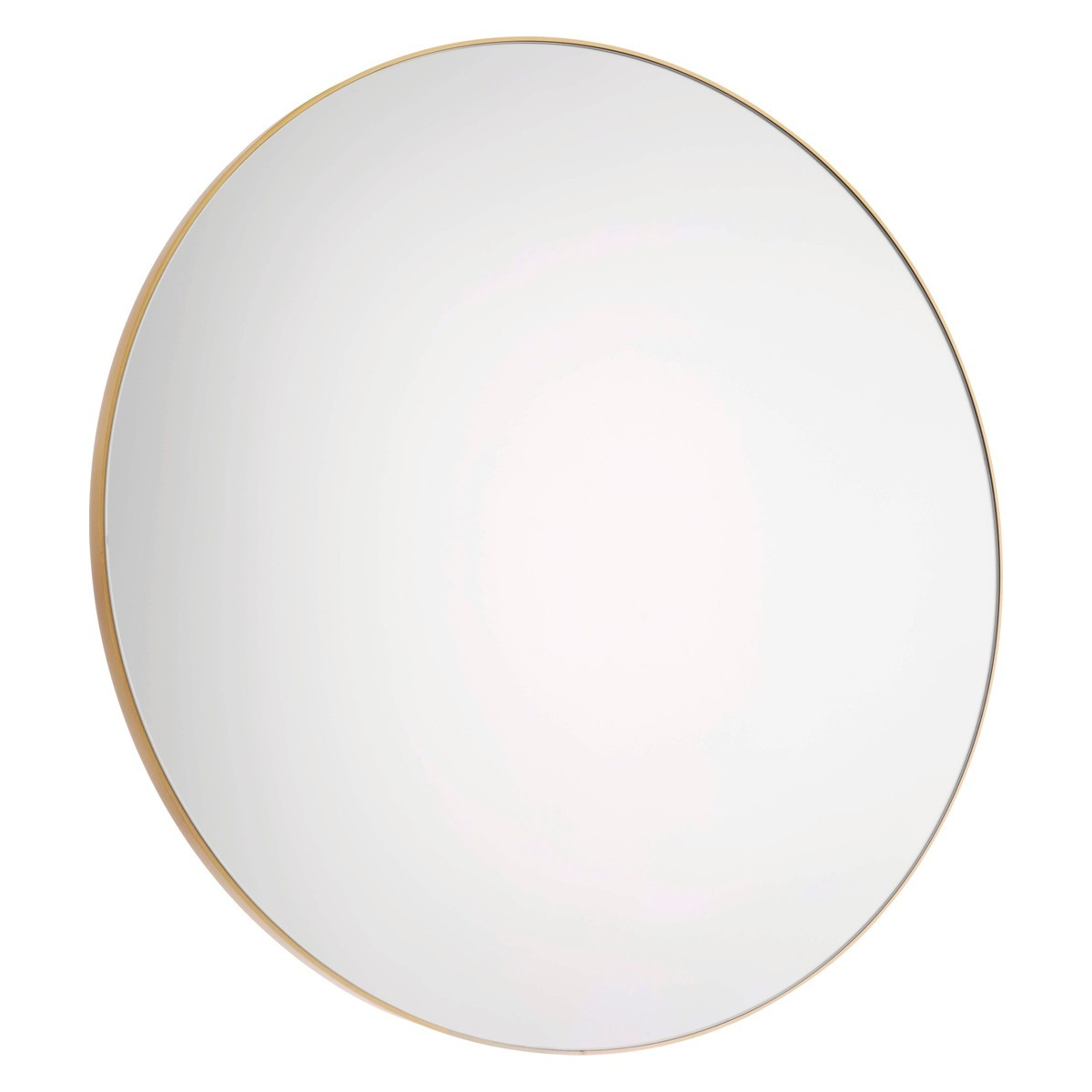 Patsy Large Round Gold Wall Mirror D82cm Gold Wall Mirror And In Round Mirror Large (Image 11 of 15)