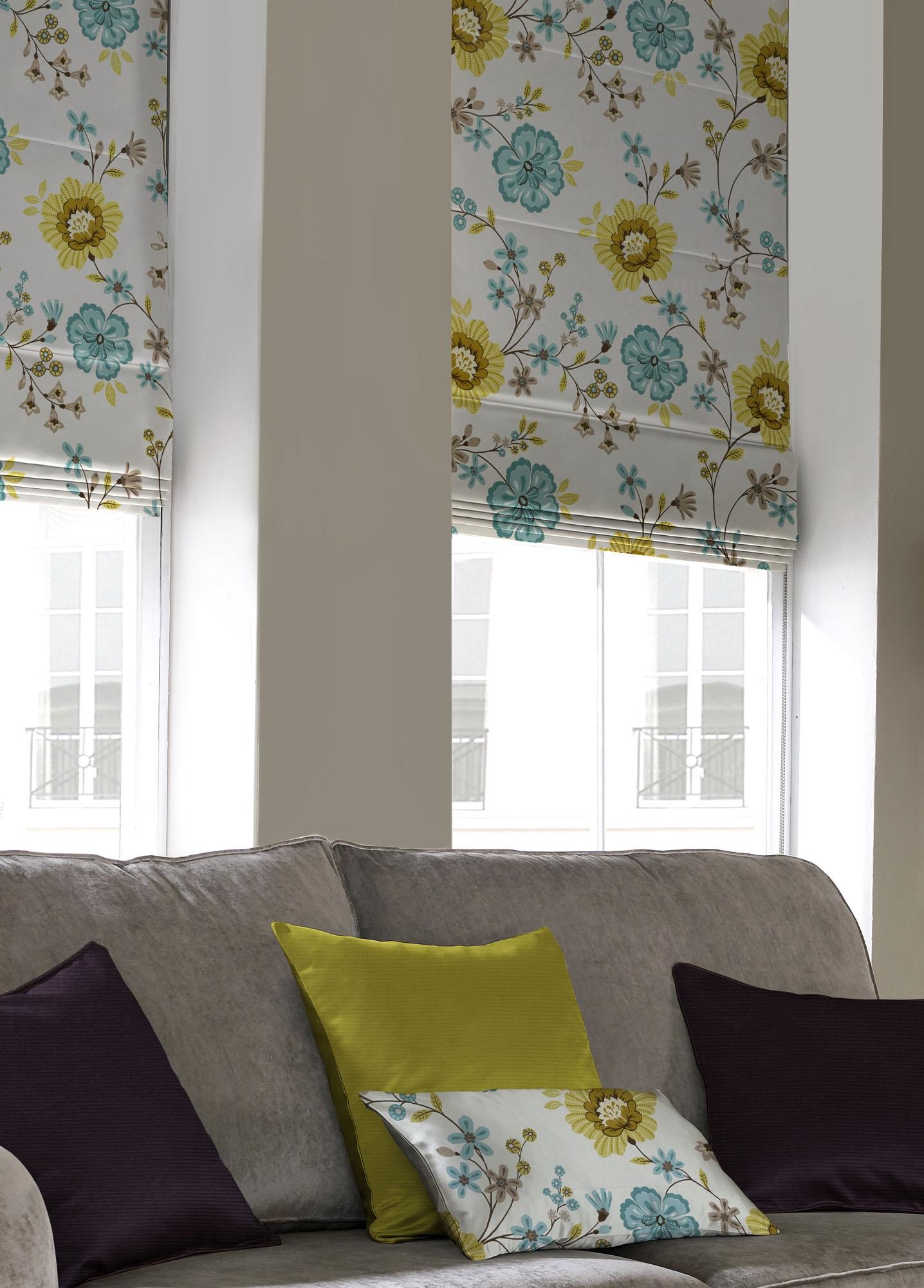 Pattern Matching Roman Blinds Httpwwwdrapes Ukblogtabid In Curtains With Matching Roman Blinds (Image 10 of 15)