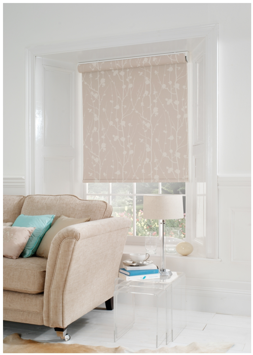 Pattern Roller Blinds Prevnext Kensington Plain Roller Blind Inside Patterned Roller Blind (Image 8 of 15)