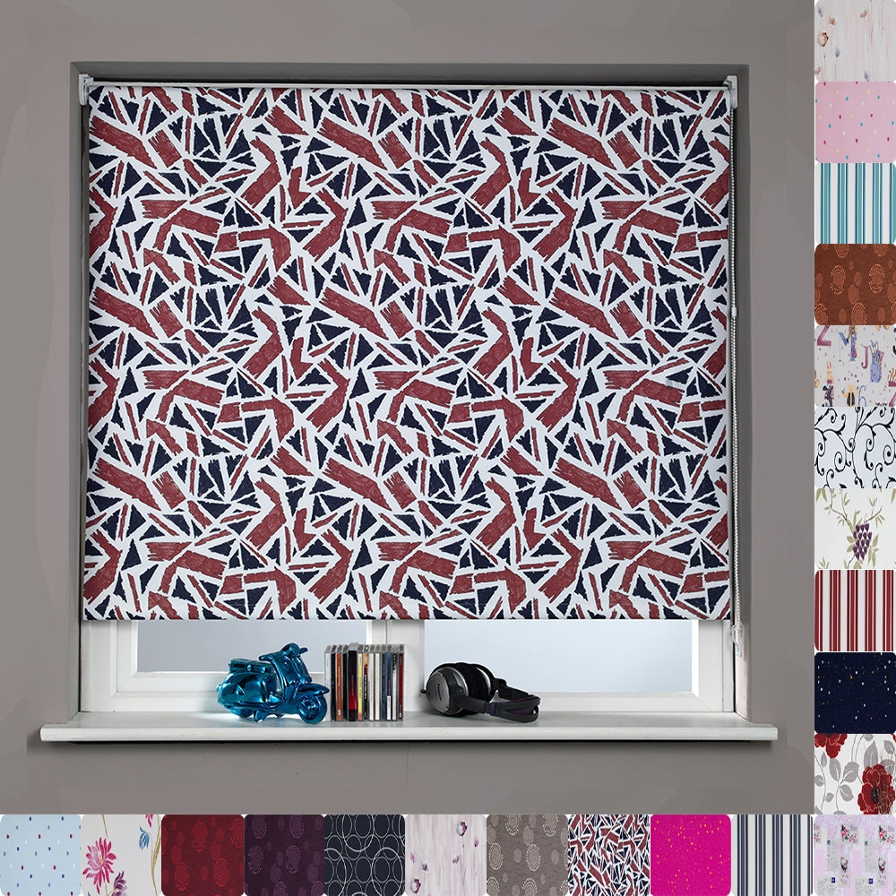Patterned Blinds For Kitchen Throughout Patterned Roller Blind (Image 10 of 15)