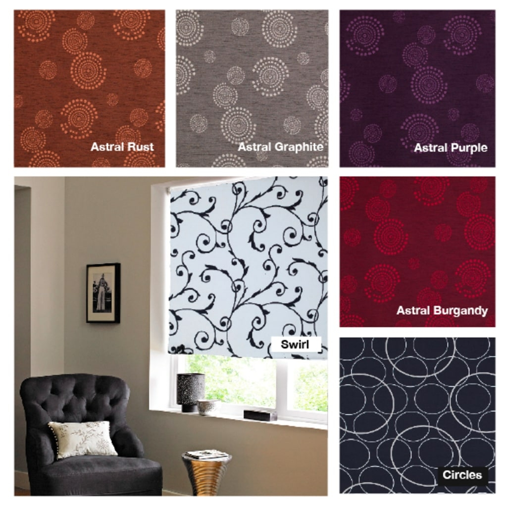 15 Best Ideas Patterned Roller Blind Curtain Ideas