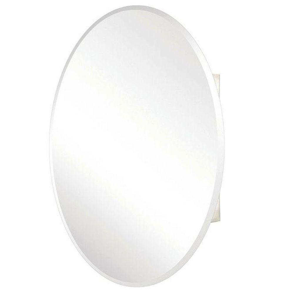 Pegasus 24 In X 36 In Recessed Or Surface Mount Oval Bathroom For Oval Bevelled Mirror (Image 9 of 15)