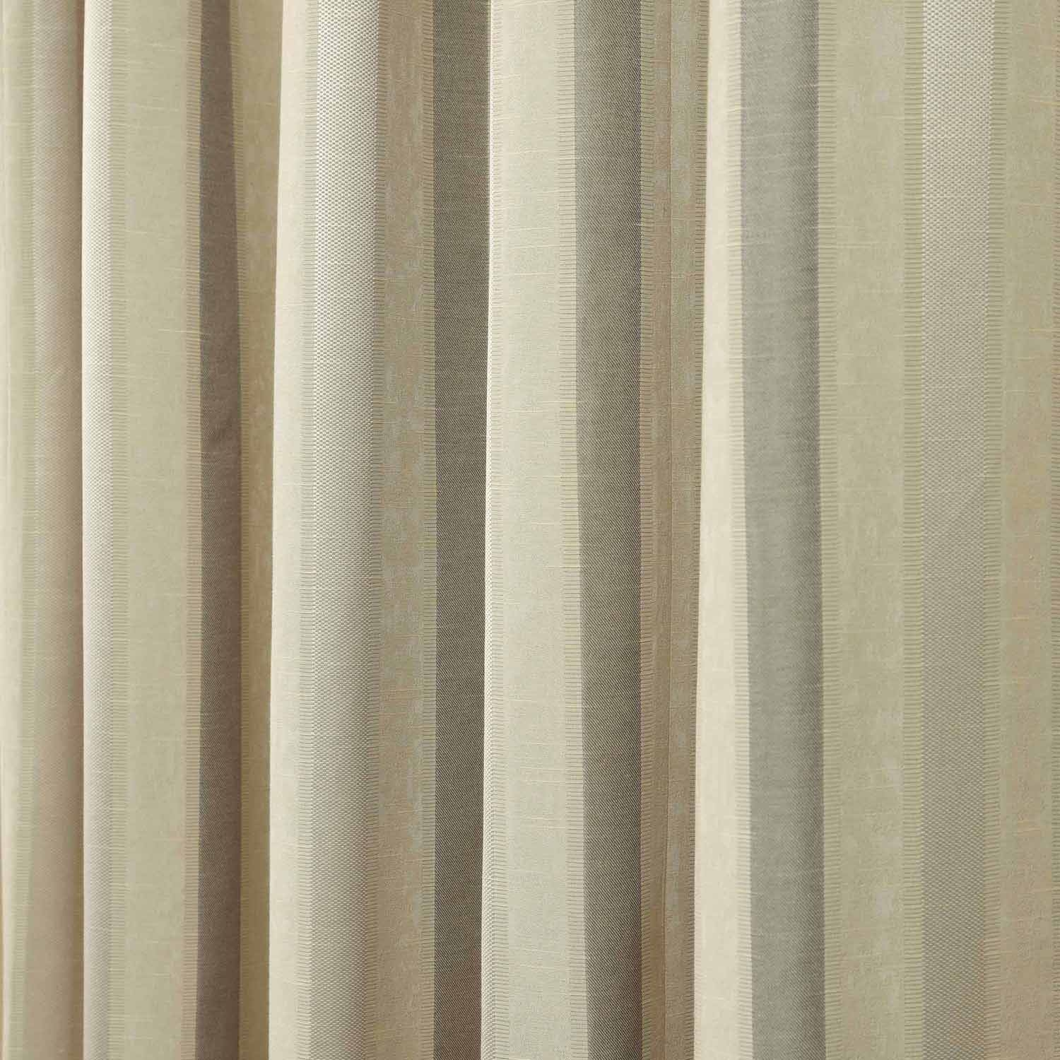 Pencil Pleat Jacquard Striped Curtains Fully Lined Blue Cream Inside Green And Cream Striped Curtains (Image 11 of 15)