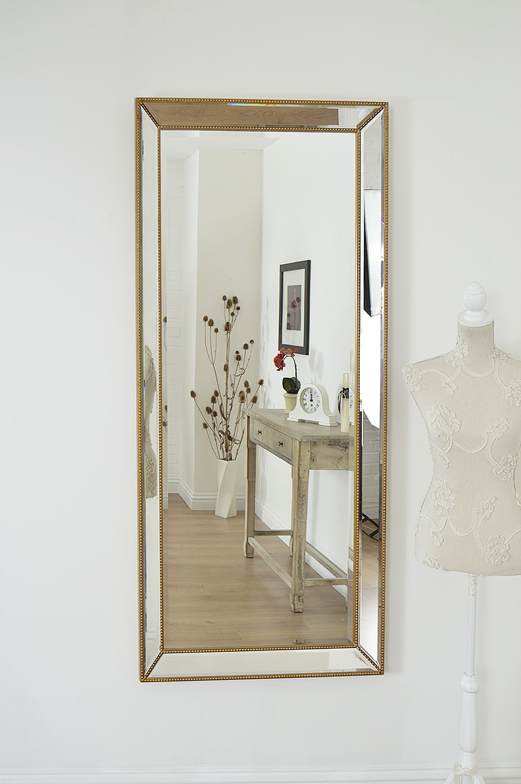 Perfect Design Big Wall Mirrors Innovation Large Gold Edge Inside Bevelled Wall Mirror (Image 12 of 15)