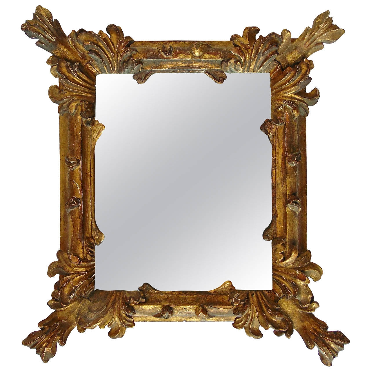Period 18th Century Italian Baroque Carved Gilt Mirror Baroque Intended For Modern Baroque Mirror (Image 13 of 15)