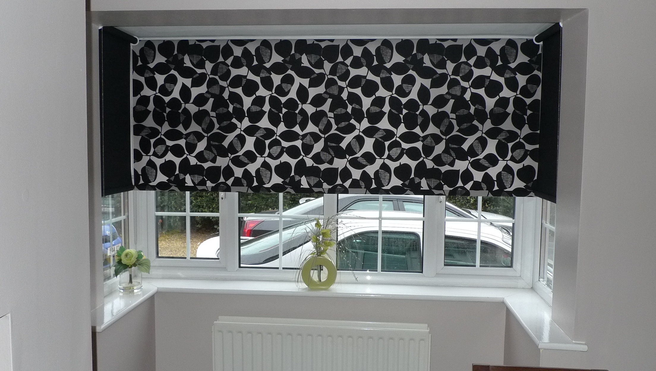 Photo Gallery Click Here And See Our Work For Window Blinds Within Bay Window Roller Blinds (View 13 of 15)